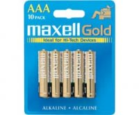 Maxell Gold AAA alkaline batteries 10-pack