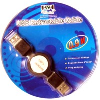 Retractable USB Cable Extension 0.9m