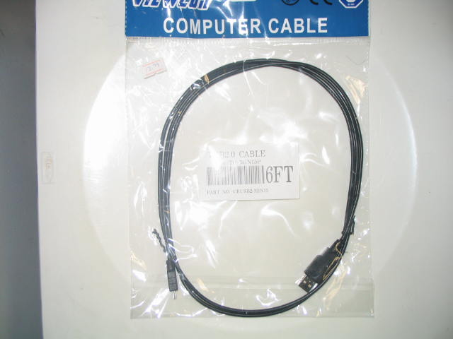 Computer USB2.0 Cable Digital Cam to Computer 6Ft.