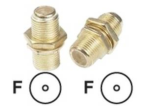 Video adapter - F connector (F) - F connector (F) - coaxial