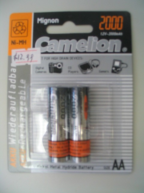 Camelion 1.2V, 2000mAh AA Mignon rechargeable battery