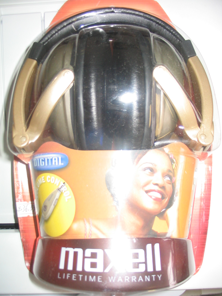 MAXELL HP-550 FOLDABLE STEREO DYNAMIC DIGITAL HEADPHONES