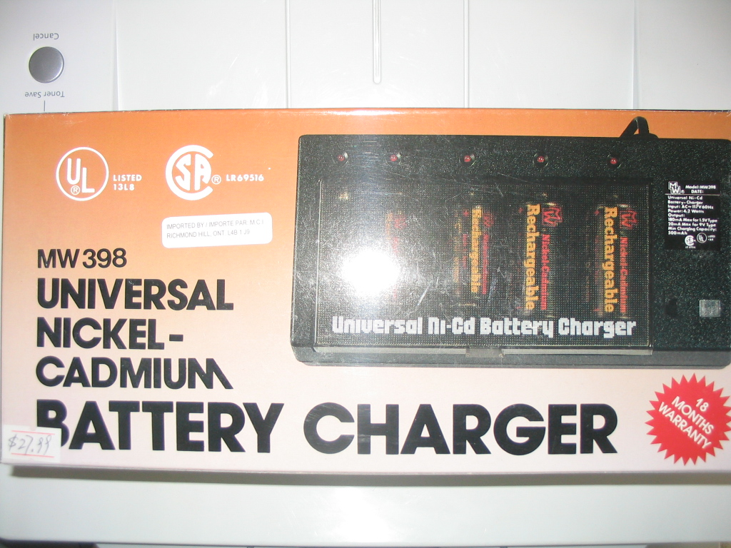 MW398 UNIVERSAL NICKEL-CADMIUM BATTERY CHARGER
