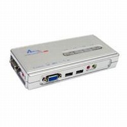 Airlink 4 Port USB/ Audio KVM Switch